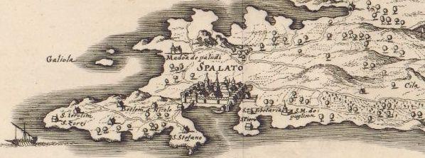 Delineato situsve provinciae circa Clissam et Spalatum (17. st.)